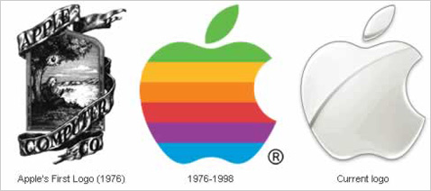 apple logo web 2.0 change