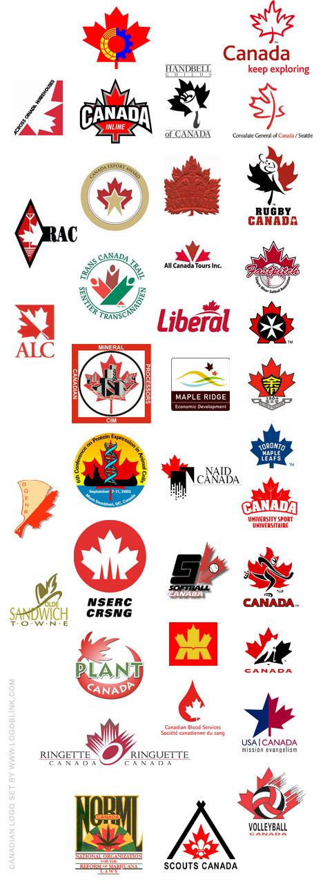Canadian logo set / 53 Canadian logos - Logoblink.com