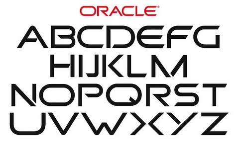 Making a font out of the ORACLE logo