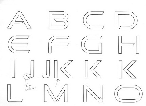 making a font sketches