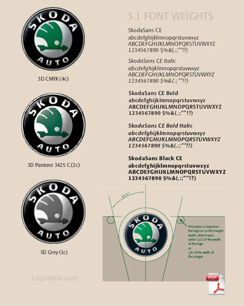 Here you can download a superb Skoda logoguideline. Why it is superb ?