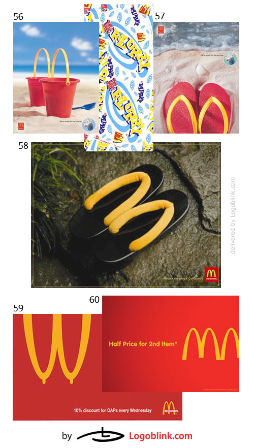 fast food chain print ads logo mania