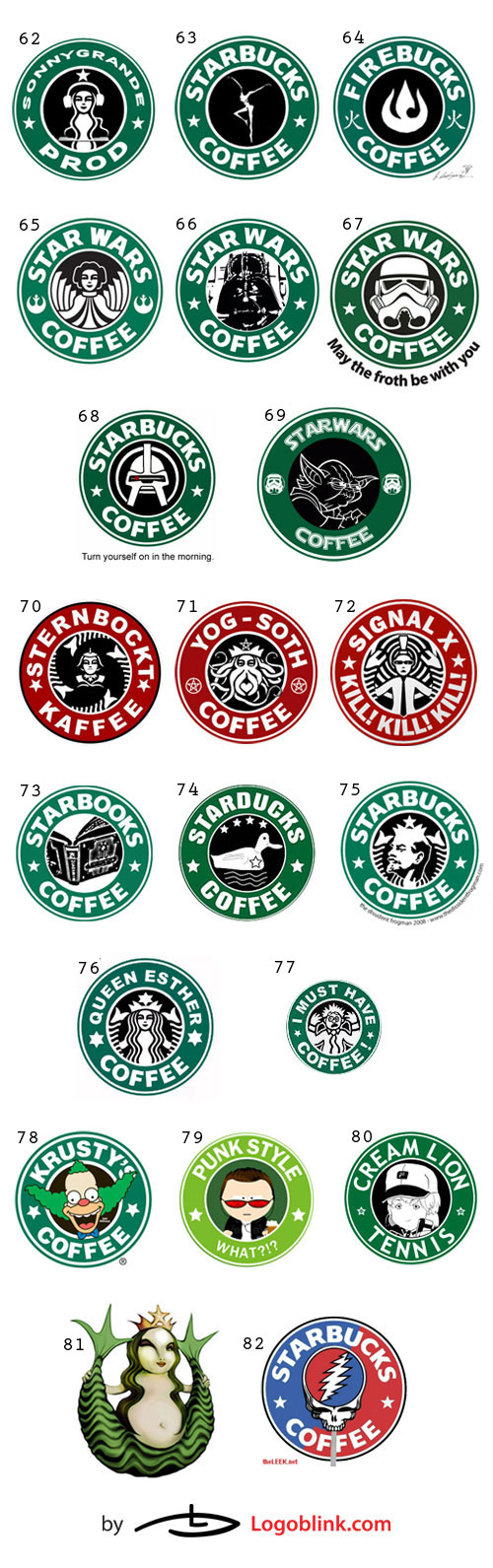coffee chain logo mania designs