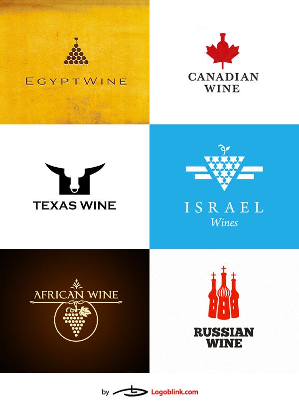 wine logos design