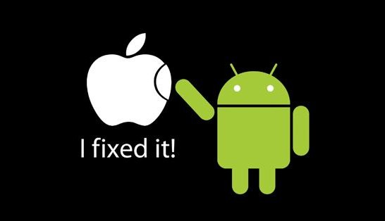 android and apple phone logos