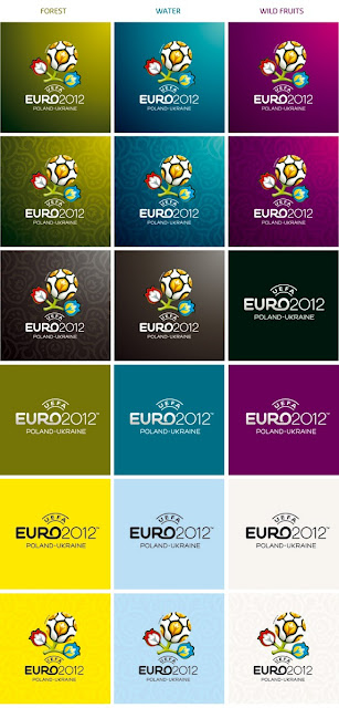 uefa cup 2012 color brand design