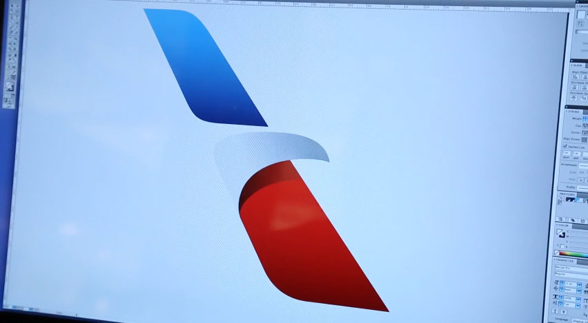 american airlines new logo design