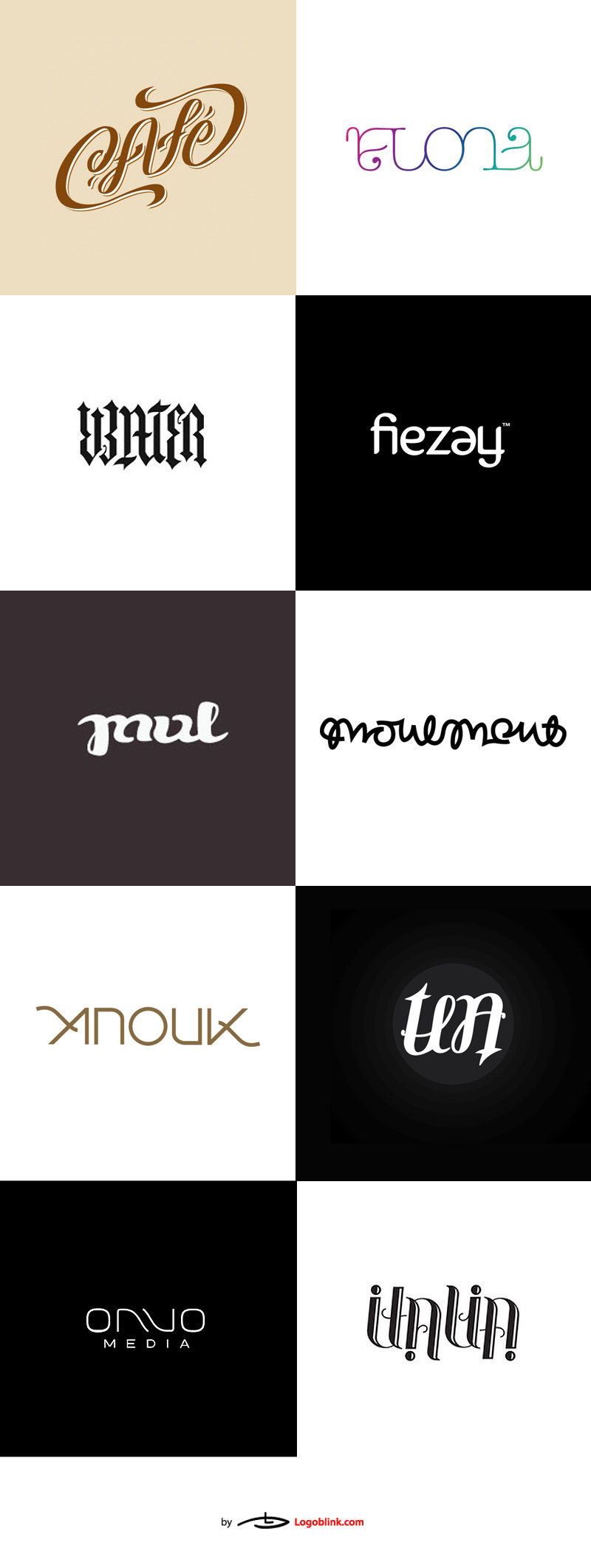 ambigram logo set brand collection