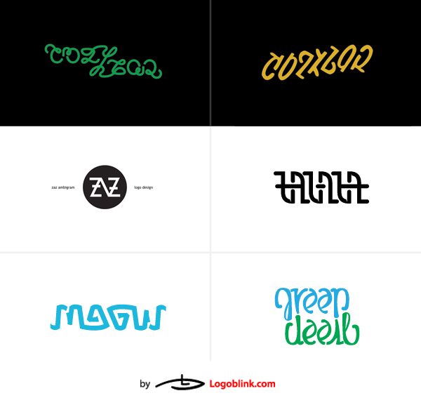 ralev.com ambigram logo set design