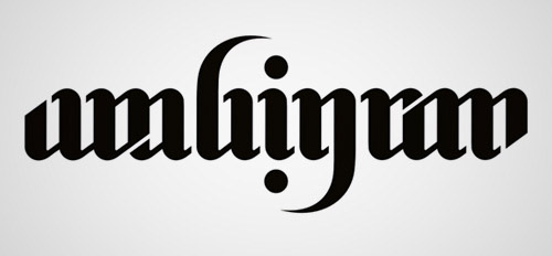 designs of ambigram logo set