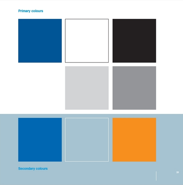 automobile Ford guidelines color palette
