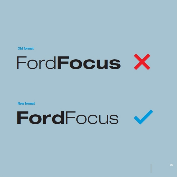 automobile Ford guidelines font