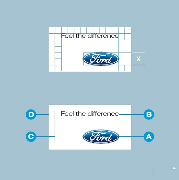 automobile Ford guidelines brand box