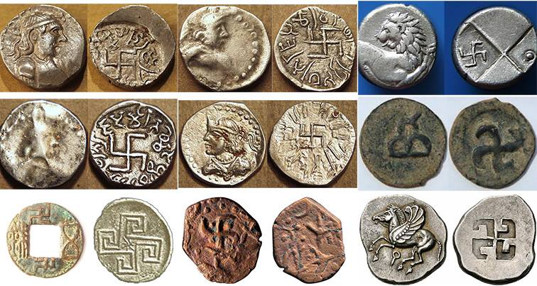 swastika-symbol-on-ancient-money