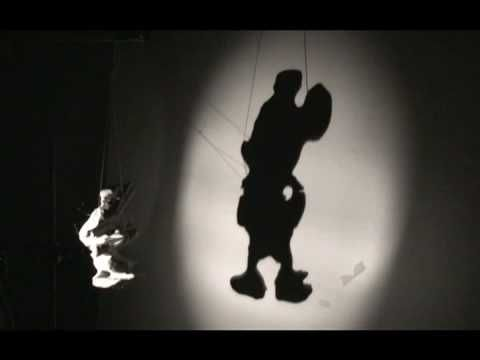 shadow instalation mickey mouse