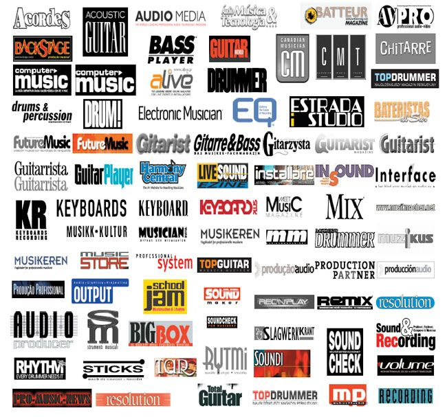 music magazines logo designs