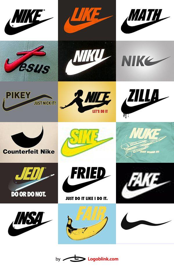 Nike, just deduce it. 48 Nike Spoof and Copycat Logos - Logoblink.com