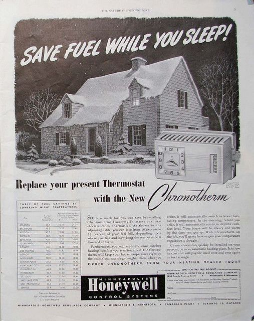 1948 honeywell first ad with logo