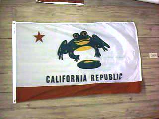 CALIFORNIA FROG FLAG