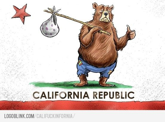california flag cartoon