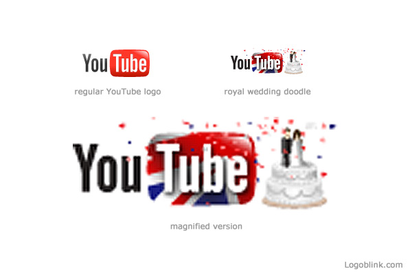 Royal Wedding YouTube Doodle Logo   Logoblink.com